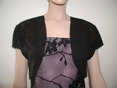 """Simple bolero pattern you can sew!  by Modestprom.com  Also a great site to show you how to make simple alterations for a """"fill-in"""" on a spaghetti strap dress and sewing on a budjet"""