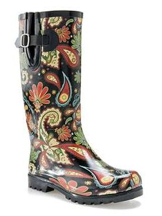 Nomad Puddles Indo Floral Rain Boots at Seasons by Design specialty shop, 2605 Ford Drive, New Holstein, WI 53061. 920-898-9081 follow us on Facebook seasonsbydesigngifts@yahoo.com