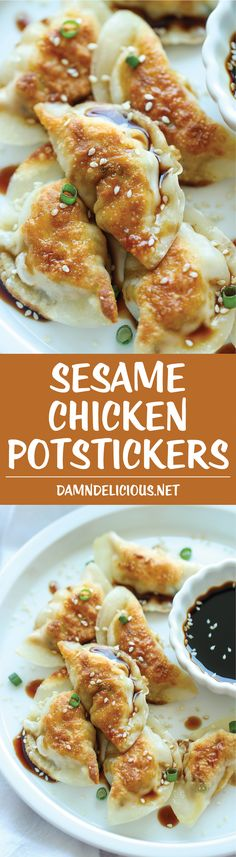 Sesame Chicken Potstickers - Potstickers are unbelievably easy to make. Best of all, they're freezer-friendly, perfect for those busy weeknights!