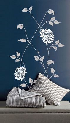 Get inspired by great outdoors with our nature wall decals range. We offer eco-friendly wall decals with free UK delivery. Bedroom Paint Design, Bedroom Wall Designs, Asian Paints Wall Designs, Simple Wall Paintings, Interior Design Shows, Room Wall Painting, Home Decor Shelves, Indian Home Interior, Wall Stickers Home Decor
