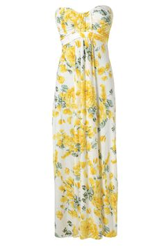 Strapless Floral Summer Maxi Dress...