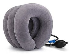 DDJ Cervical Neck Traction Device for Head & Shoulder Pain with Adjustable Size, Bigger Pump, Extended Velcro, Durable (Grey, M): Instructions:/bbr Muscles Of The Neck, Neck And Shoulder Muscles, Head & Shoulders, Sore Muscles, Chronic Fatigue Causes, Arthritis, Headache Causes, Neck Injury, Neck Pain Relief