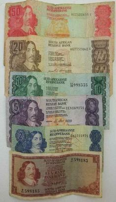Buy Old South African Bank Notes for R175.00