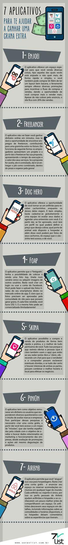 #infográfico #infographic #design #aplicativos #celular #smartphone #ganhar…