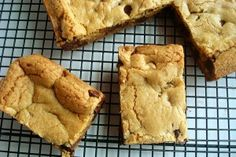 I am just returning from a sudden out-of-town trip and my house and children are overloaded with needs I must attend to. So in that vein, let me simply state that if you need a midweek pick-me-up, these quick and delicious treats are for you. I love the ease of bars versus cookies and this