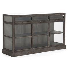 furniture industrial style. Industrial Loft Grey Oak Display Media Wall Cabinet: Kitchen \u0026 Dining.  Buffet. Furniture Industrial Style A