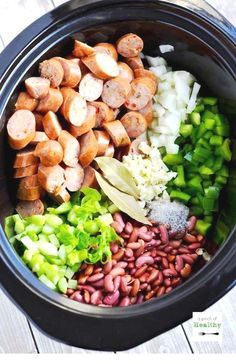 are going to LOVE this red beans and rice in the slow cooker because it is so delicious and easy!You are going to LOVE this red beans and rice in the slow cooker because it is so delicious and easy! Crockpot Dishes, Crock Pot Slow Cooker, Crock Pot Cooking, Slow Cooker Recipes, Cooking Recipes, Red Beans And Rice Recipe Crockpot, Healthy Slow Cooker, Crock Pots, Healthy Crock Pot Meals