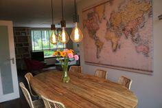 Dinner table oval #kitchen #interior