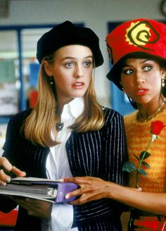 Alicia Silverstone and Stacey Dash in Clueless, 1995