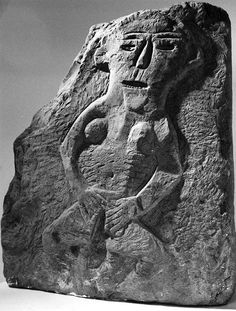 People's Collection Wales - Exhibitionist Carving or Sheela-na-Gig, Llandrindod Wells