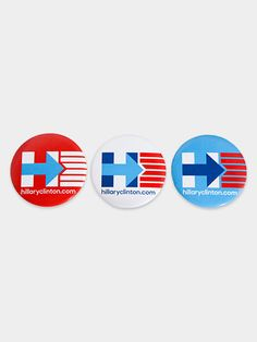 Show off your patriotism and your support for Hillary Clinton at the same time. These pins pair very well with sundresses and seersucker suits. Hillary For President, Hillary Clinton 2016, Political Slogans, Stylish Hats, Signature Style, Red White Blue, Custom Clothes, Nerdy, Best Gifts