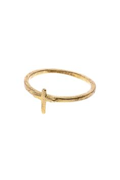 Brass cross pinky ring.   Cross Brass Ring by VERAMEAT. Accessories - Jewelry - Rings Kansas