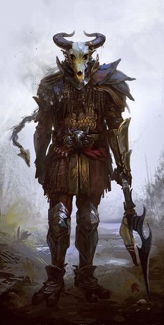 """rhubarbes: """"The Rider by monikapalosz """" Fantasy Character Design, Character Design Inspiration, Character Concept, Character Art, Dungeons And Dragons Characters, Dnd Characters, Fantasy Characters, Fantasy Armor, Medieval Fantasy"""