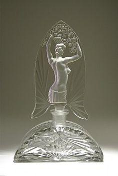 Vintage 1930s Czech Perfume Bottle