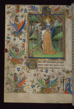Pretty medieval manuscript of the day is St Catherine and her wheel, as depicted in a leaf from the Amherst Hours, one of the treasures of the Walters Museum in Baltimore. Image source:Walters Museum MS W. 167. Creative Commons licensed via Flickr.