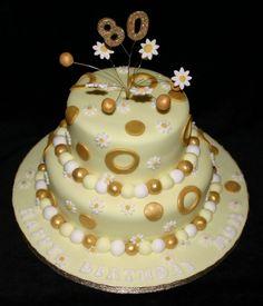 80th birthday cake www.bespokebaking.com