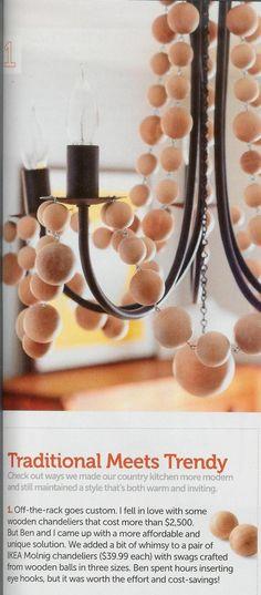 DIY beaded chandelier 2 (using ikea chandelier as base)