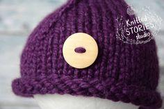 Newborn knit hatNewborn hatNewborn girl by KnittedStoriesStudio