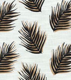 Nate Berkus Home Decor Print Fabric-Onyx