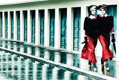 Vogue UK September Deauville Rendez-vous featuring Stella Tennant and Marte Mei Van Haaster by Mario Testino Mario Testino, Sixties Fashion, Vogue Fashion, High Fashion, Style Fashion, Stella Tennant, Freja Beha Erichsen, Georgia May Jagger, Giuseppe Zanotti Design