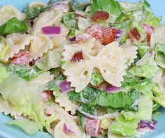 Easy 15 Minute BLT Pasta Salad Recipe | TipBuzz