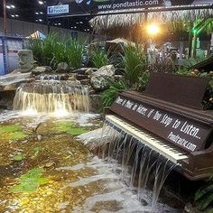 what to do with that old piano, outdoor living, ponds water features, Piano Waterfall