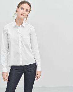 Short Cotton Shirt White