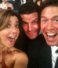 Alyson Hannigan, David Boreanaz and Alexis Denisof. Love them!