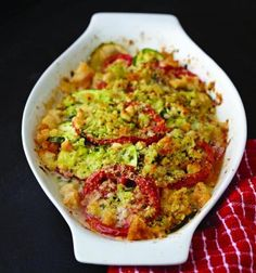 Best Tomato Recipes Fresh Tomato and Zucchini Au Gratin Recipe Tomato Salsa Recipe, Fresh Tomato Recipes, Best Zucchini Recipes, Veggie Recipes, Delicious Recipes, Vegetarian Recipes, Healthy Recipes, Cookbook Recipes, Cooking Recipes