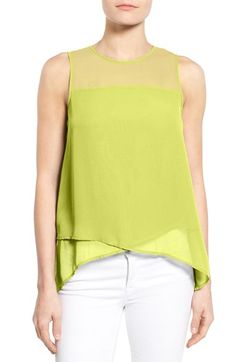 Vince Camuto Asymmetrical Sleeveless Blouse