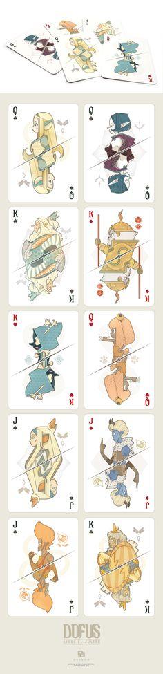 Achei interessante a descontextualização das figuras estilo Anime para um baralho de cartas.
