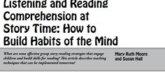 This pin discloses the important facts about teaching comprehension intentionally, allowing children to build a habit of the mind to read texts with a purpose; interact with the text in a more meaningful manner. According to Early Years Learning Framework, teachers who intentionally teach, actively promote children's learning through worthwhile and challenging experiences and interactions that foster high-level thinking skills (Department of Education and Training , 2014).
