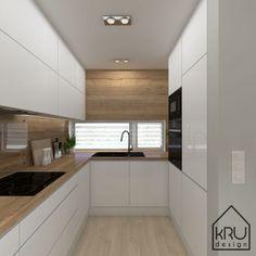 Zakres projektu: kuchnia – 2 wersje KRU Design – Home Decor İdeas Modern Kitchen Design Open, Kitchen Cabinet Design, Kitchen Layout, Interior Design Kitchen, Kitchen Cupboard, Kitchen Cabinets, Home Decor Kitchen, Kitchen Furniture, Home Kitchens