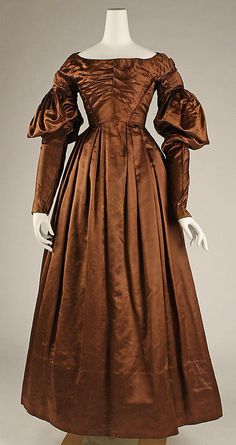 Dress - 1825 - The Metropolitan Museum of Art, I believe that there is a dating issue on this dress as the shape, cut and details are not 1820's but early1840's