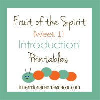 Fruit of the Spirit Study for Toddlers/Preschoolers