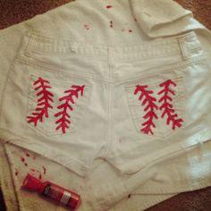 DIY baseball shorts! too presh