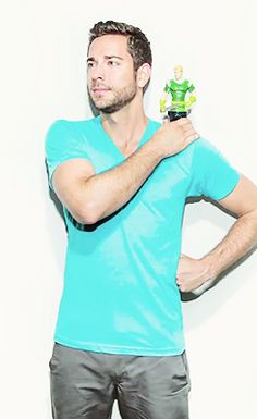 Zachary Levi and his mini me (Fandral action figure)....and he's a dork, which makes him even hotter to me!!!