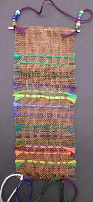 Burlap weaving/sewin