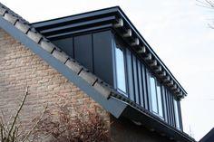 Dakkapel - dormer - black - white - details - craftsmanship - zinc - exterior - restoration - extension By Studio 2 stripeS, the Netherlands Loft Dormer, Dormer Loft Conversion, Dormer Roof, Dormer Windows, Loft Conversions, Attic Renovation, Attic Remodel, Attic Rooms, Attic Spaces