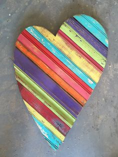 Solid Heart by RidleyStallingsArt on Etsy Rainbow Rocks, Reclaimed Wood Art, Easy Woodworking Projects, Wall Sculptures, Wood Wall Art, Painting On Wood, Artsy Fartsy, Scrap, Diy Crafts