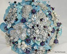 Tiffany & Purple Hydrangea Brooch Bouquet