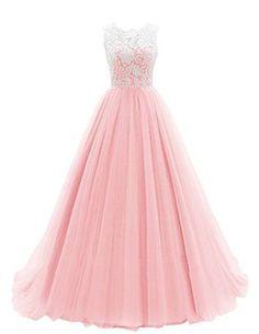 Dresstells® Women's Long Tulle Prom Dress Dance Gown with Lace Pink Size 2 Dresstells http://www.amazon.com/dp/B00R7K39E0/ref=cm_sw_r_pi_dp_fe9Cwb03E0W68
