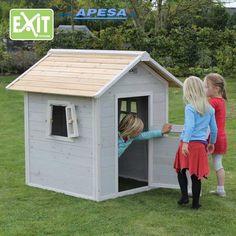 Exit Spielhaus Beach 100 von APESA Plein Air, Montage, The 100, Shed, Outdoor Structures, Beach, Products, Children's House, Wooden Playhouse