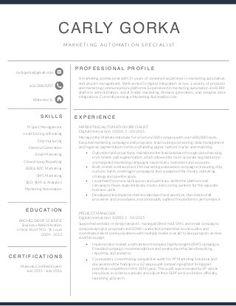 Marketing Automation Specialist Resume - Carly Gorka