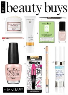 Our Top 10 Beauty Closet Products For January