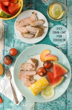 Quick and delicious: marinated Spicy Cumin-Lime Pork Tenderloin. Perfect for busy weeknights and Back to School! Gluten-free.