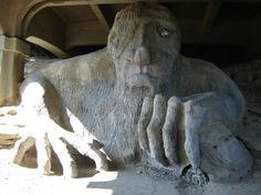 Fremont Troll, (Fremont) Seattle, WA - only two things really needed to be said here: a) 10 Things I Hate About You, b) IT'S A GIANT FREAKIN' TROLL!  What's not to want to see? :D