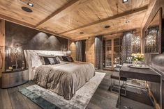 Luxurious chalet in the Swiss Alps offers ski resort winter escape Chalet Chic, Chalet Style, Ski Chalet Decor, Chalet Design, Zigarren Lounges, Chalet Interior, Swiss Alps, House In The Woods, My Dream Home