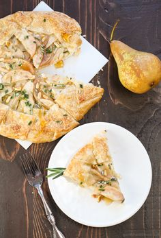 Pear, Rosemary and Goat Cheese Galette