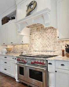 Charmant This #brick #backsplash Is One Of My #favorites! The Backsplash Is Real